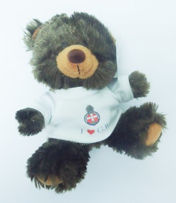 "Teddy in a ""I ♥ GB"" t-shirt (22cm)"