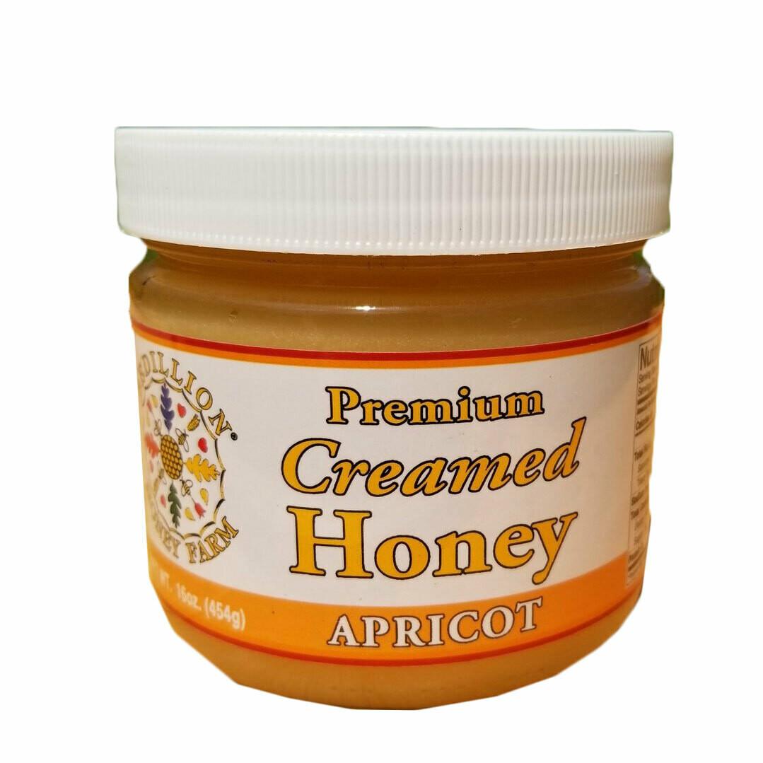 Apricot Creamed Honey 16 oz.