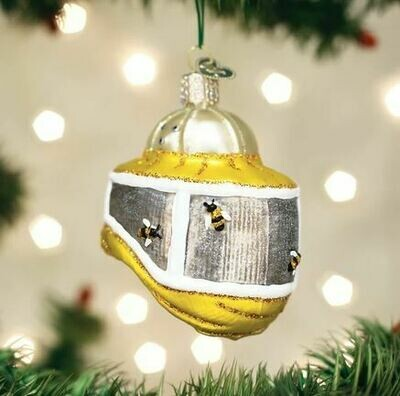 Old world Beekeeper's Hood Christmas Ornament