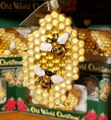 Old World Christmas Honeycomb Ornament