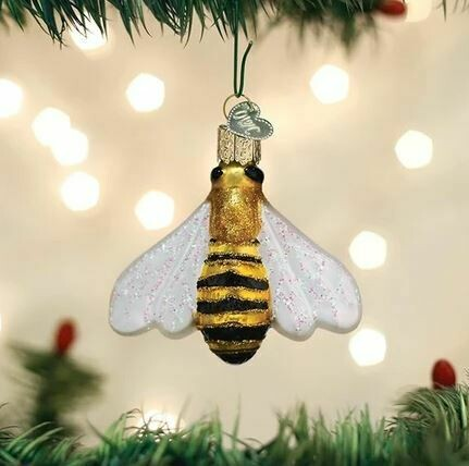 OLD WORLD HONEY BEE Christmas Ornament