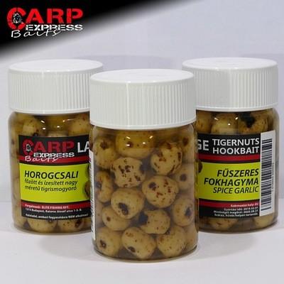 CPX Baits Főtt színezett Large tigrismogyoró horogcsali - Fűszeres Fokhagyma 50 gramm