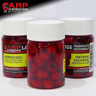 CPX Baits Főtt színezett Large tigrismogyoró horogcsali - Tintahal Szilvával - 50 gramm