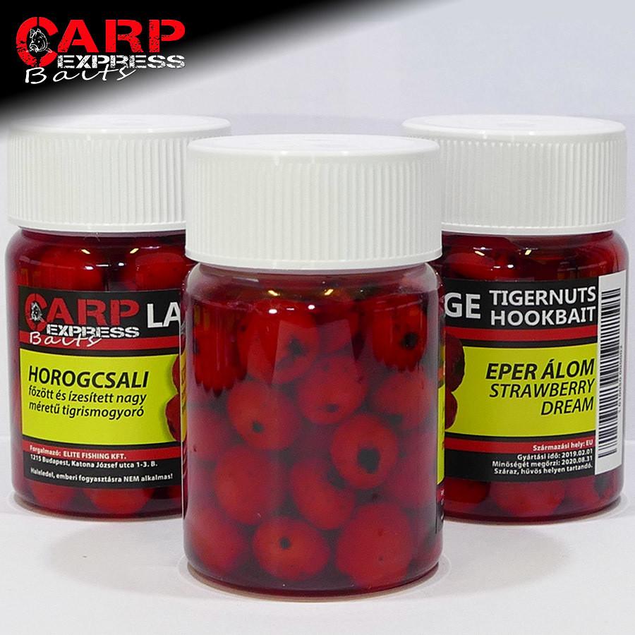 CPX Baits Főtt színezett Large tigrismogyoró horogcsali - Eper Álom - 50 gramm