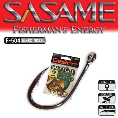 SASAME Mastery bojlis horog - Black Nickel
