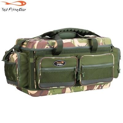 TF Gear Survivor Heavy Duty Carryall - Nagy méretű merev fedelű terep mintás horgász táska