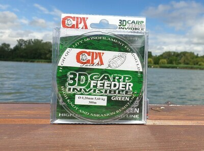 CPX - 3D CARP FEEDER INVISIBLE - Green zsinór - 300m