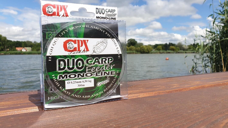 CPX - DUO CARP FEEDER MONO-LINE zsinór - BLACK & GREEN - 300m