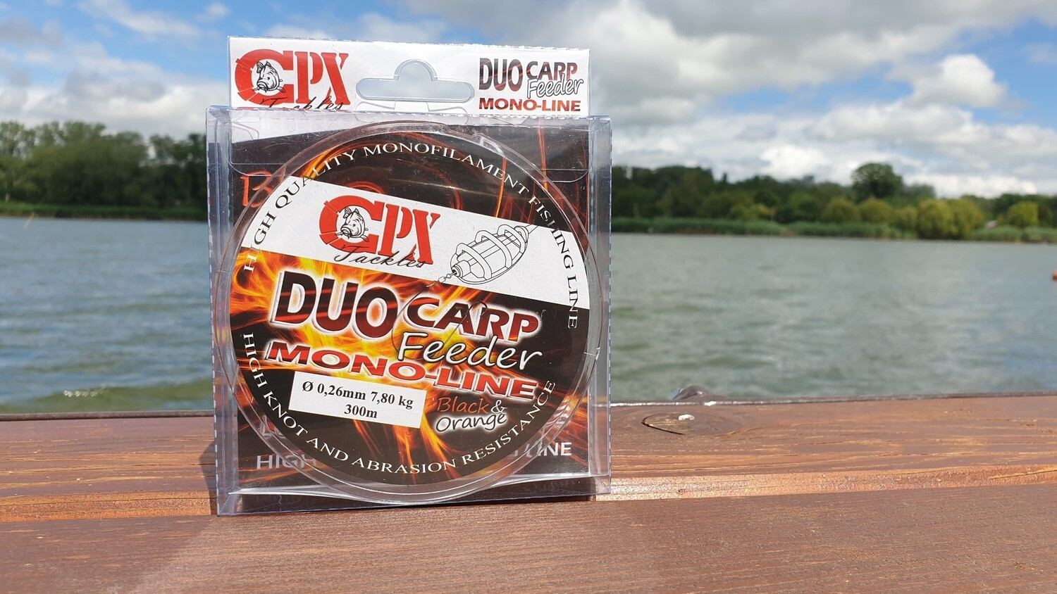 CPX - DUO CARP FEEDER MONO-LINE zsinór - BLACK & ORANGE - 300m