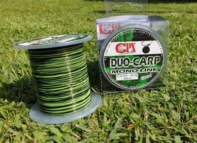 CPX - DUO CARP FEEDER MONO LINE zsinór - BLACK & GREEN - 600m