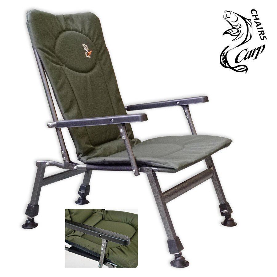 Carp F8R Karfás horgász fotel - zöld