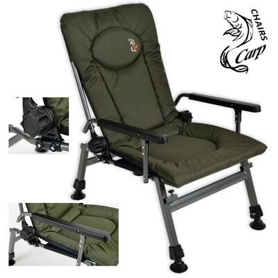 Carp F5R Karfás horgász fotel - zöld