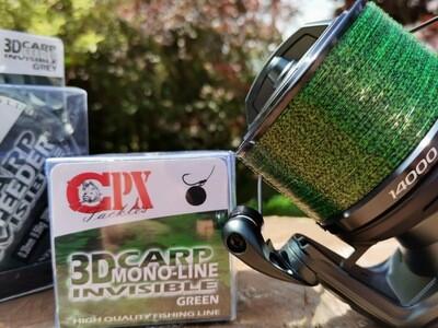 CPX - 3D CARP Line - Green zsinór - 600m