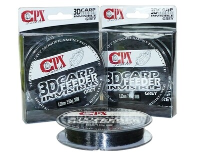 CPX - 3D CARP FEEDER INVISIBLE - Grey (Szürke) zsinór - 300m
