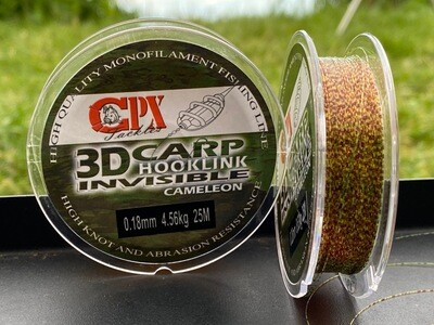 CPX 3D Carp Hooklink Cameleon - Monofil előke zsinór - 25m