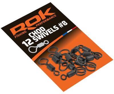 ROK CHOD Swivels Big eyed - nagy szemű forgó - 15 darab/csomag