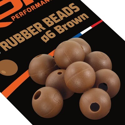 ROK RUBBER Beads Ø6mm - Gumigyöngy - 25 darab/csomag