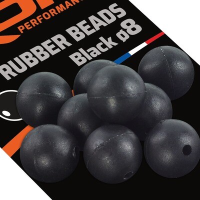 ROK RUBBER Beads Ø8mm - Gumigyöngy - 20 darab/csomag