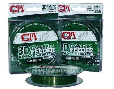 CPX - 3D CARP FEEDER INVISIBLE - Green zsinór - 150m