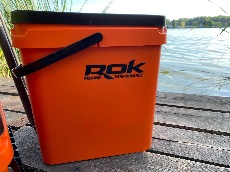 ROK 17 literes szögletes keverő edény fedéllel - SQUARE BUCKET with soft cover