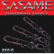 SASAME Extra erõs hordós forgó biztonsági kapoccsal - Black