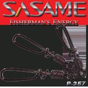 SASAME Gyorskapocs forgóval (csavart csali rögzítõ) - Black Nickel