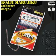 SASAME Koaji Marujiku lapkás pontyozó, keszegezõ elõkötött horog - 50cm - Nickel - 10db/csomag