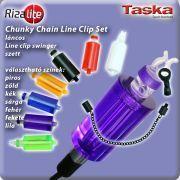 TASKA Carp - Rizalite Chunky Chain Mega body V Clip Set Purple