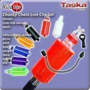 TASKA Carp - Rizalite Chunky Chain Mega body V Clip Set Red
