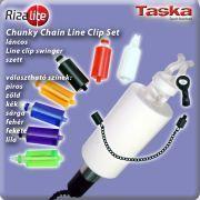 TASKA Carp - Rizalite Chunky Chain Mega body V Clip Set White