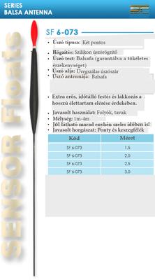 SENSOR ÚSZÓ SF 6-073