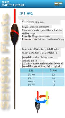 SENSOR ÚSZÓ SF 9-092