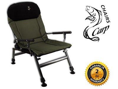 Carp FK5 Karfás horgász fotel - zöld
