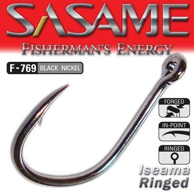 SASAME Iseama Ringed füles pontyozó horog - Black Nickel