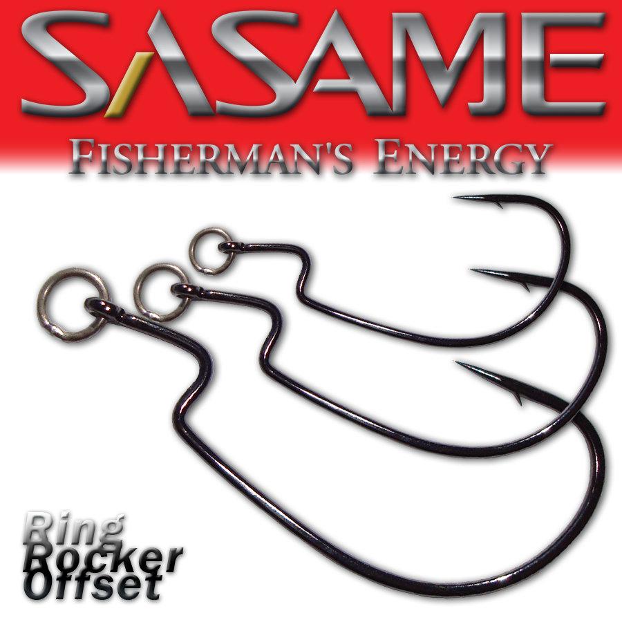 SASAME Ring Rocker Offset speciális horog - Black Nickel