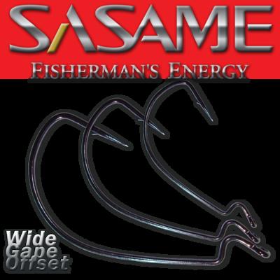 SASAME Wide Gape Offset speciális horog - Black Nickel