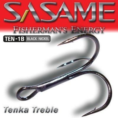 SASAME Tenka Treble hármas horog - Black Nickel