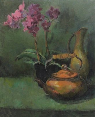 Orchid and Teapot