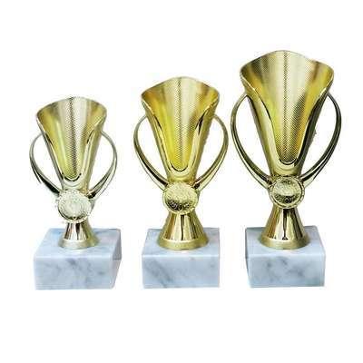 """גביע פלסטיק ג. 15 ס""""מ זהב"""
