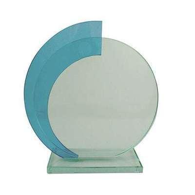 מגן זכוכית עגול כחול ג. 22.5 ס