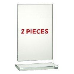 מגן זכוכית מלבן להדפסה ישירה 10*15 ס