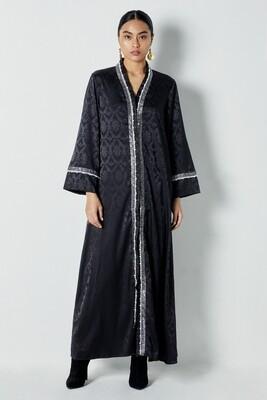 Damask Black Abaya