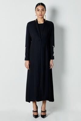 Wajiha Long Jacket Black