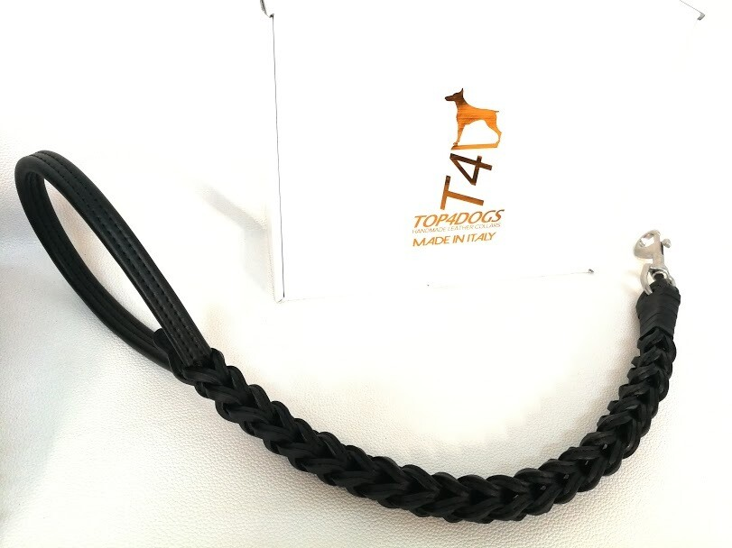 Customize Braided Leash (Lenght, Leather color and snap hook)