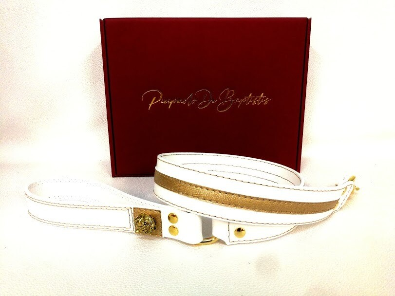 White/Gold Leash 100 cm