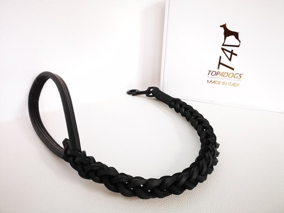 Total Black Braided Leash