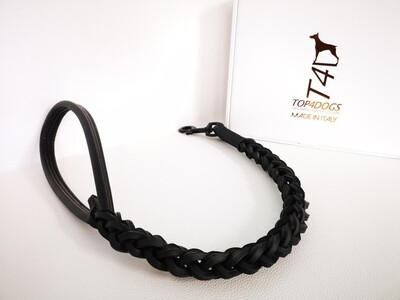 Total Black Braided Leash