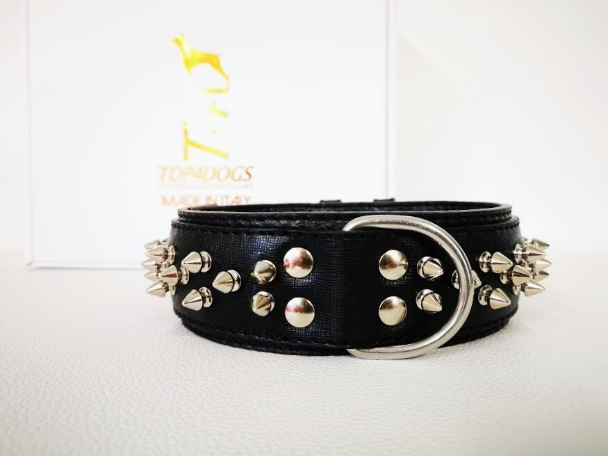 Silver spikes (customize leather color)