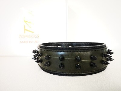 Green Croc and black spikes (5 cm/1,97in)