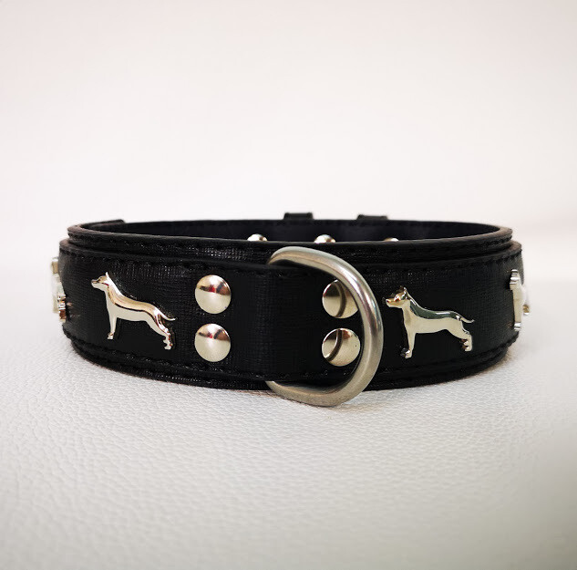 American breed dog collar (customize leather color)